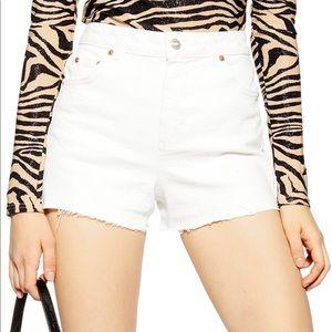 NWT Topshop Denim Mom Shorts